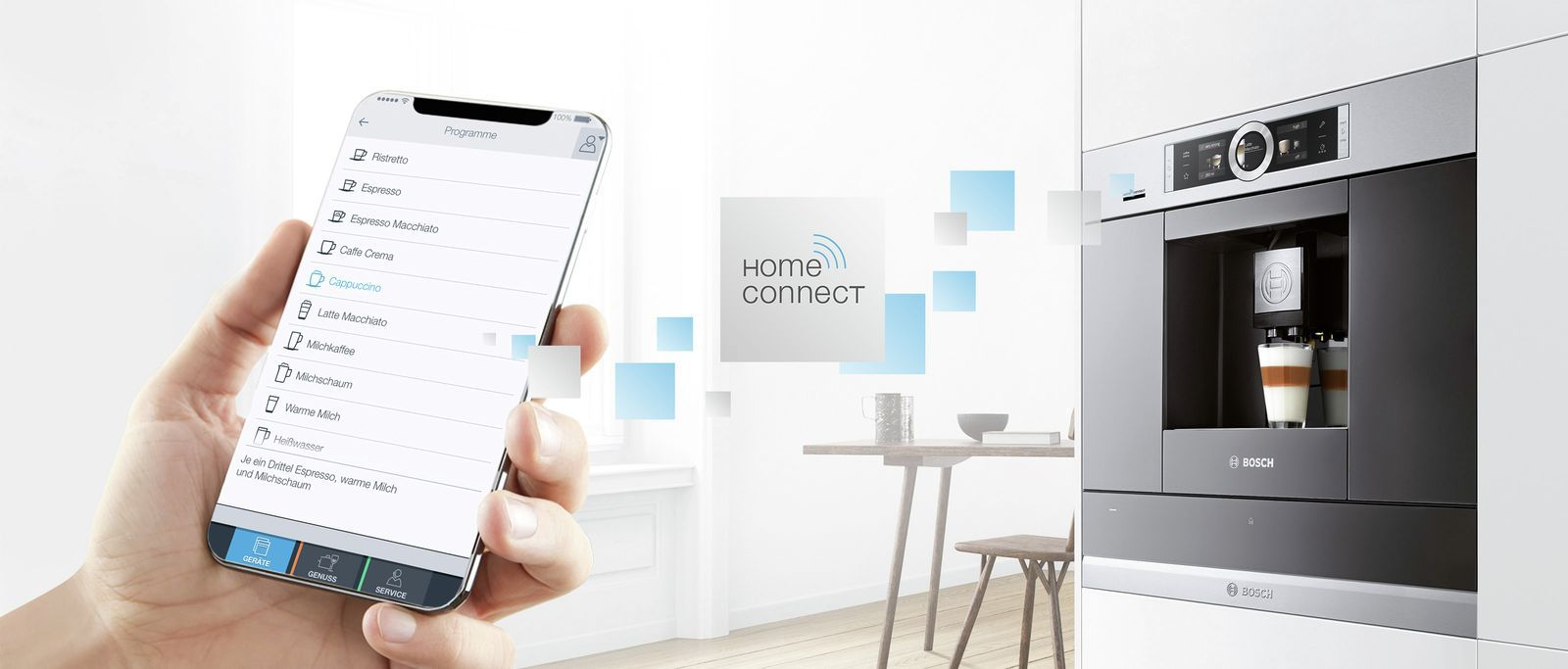 Bosch Kaffeevollautomaten mit Home Connect Funktion